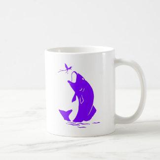 紫色の魚 コーヒーマグカップ