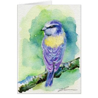 紫色の鳥 ノートカード