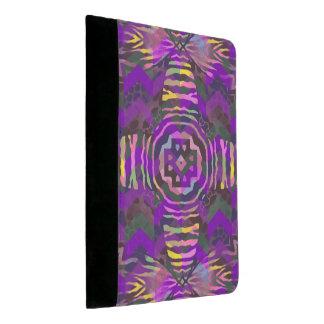 紫色の黄色いシマウマの抽象芸術パターン パッドフォリオ