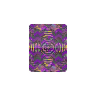 紫色の黄色いシマウマの抽象芸術パターン 名刺入れ