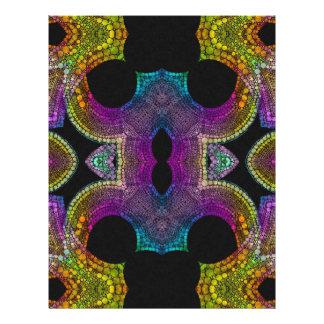 紫色の黄色いターコイズの抽象芸術 レターヘッド