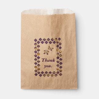 紫色の黄色いダイヤモンドの蝶好意のバッグ フェイバーバッグ