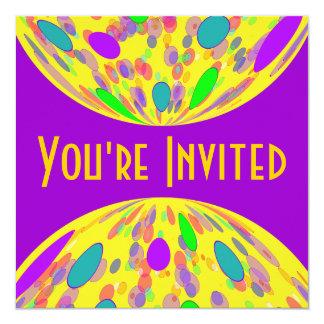 紫色の黄色い円 カード