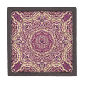 紫色の黄色の抽象芸術 ギフトボックス