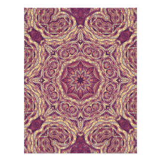 紫色の黄色の抽象芸術 レターヘッド