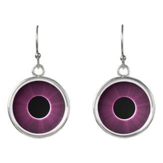 紫色の黒い低下のイヤリング イヤリング