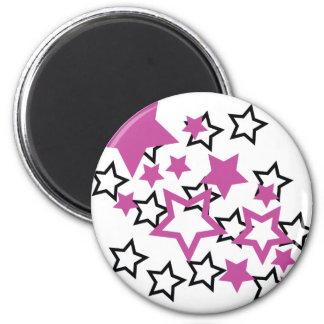 紫色の黒い星 マグネット