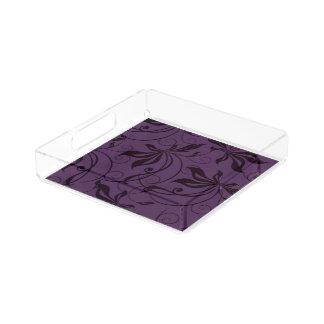 紫色の黒い渦巻 アクリルトレー