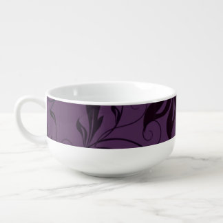 紫色の黒い渦巻 スープマグ