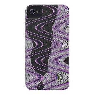 紫色の黒い野生の抽象美術 Case-Mate iPhone 4 ケース