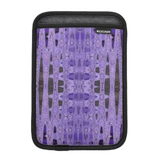 紫色の黒の抽象芸術パターン iPad MINIスリーブ