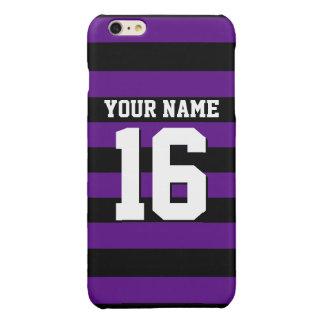 紫色の黒はジャージーのプレッピーなストライプを遊ばします