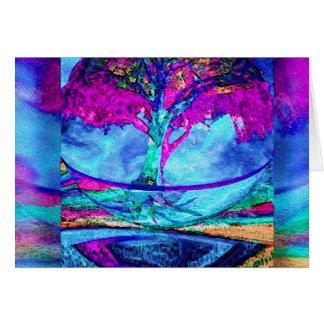 紫色の黙想の生命の樹 ノートカード