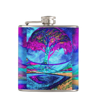 紫色の黙想の生命の樹 フラスク