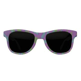 紫色の(ばちゃばちゃ)跳ねるの抽象芸術 サングラス