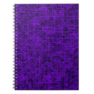 """紫色の""""傷""""のノート ノートブック"""