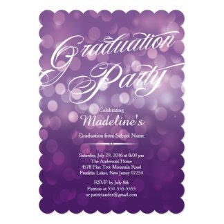 紫色の《写真》ぼけ味のTypographの卒業パーティーを型抜きして下さい カード