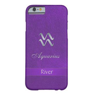 紫色の(占星術の)十二宮図の印のアクエリアス BARELY THERE iPhone 6 ケース