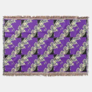 紫色の(占星術の)十二宮図の印の山羊座のフラクタルデザイン スローブランケット