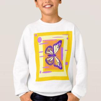 紫色の(昆虫)オオカバマダラ、モナーク、Sharles著金ゴールドのデザインのギフト スウェットシャツ