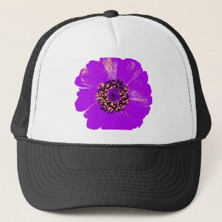 紫色の《植物》百日草の花 キャップ