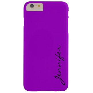 紫色の(Munsell)色の背景 Barely There iPhone 6 Plus ケース