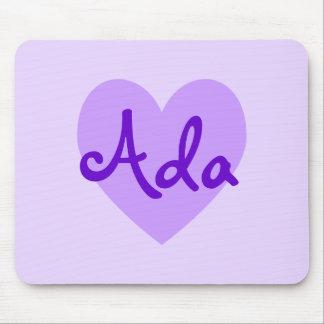 紫色のAda マウスパッド