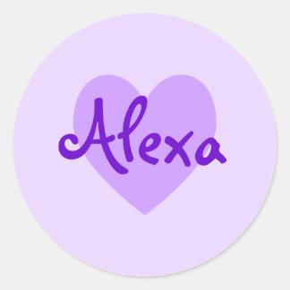 紫色のAlexa ラウンドシール