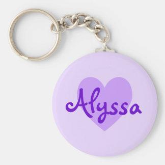 紫色のAlyssa キーホルダー