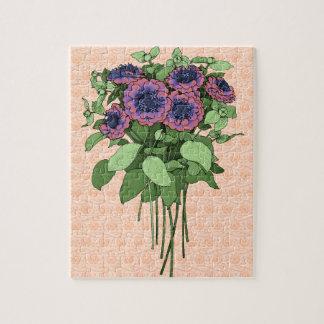 紫色のAnenomes ジグソーパズル