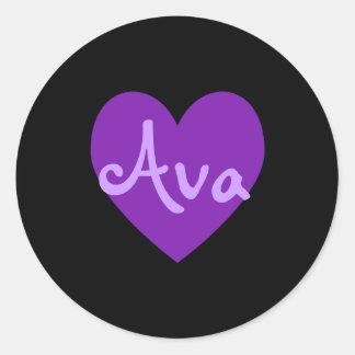 紫色のAva ラウンドシール