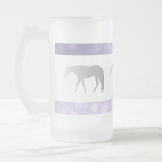 紫色のBrokehの銀製の西部の喜びの馬 フロストグラスビールジョッキ
