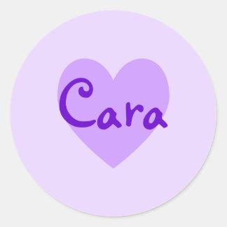 紫色のCara ラウンドシール