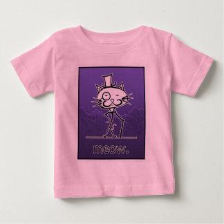 紫色のCat Meow ベビーTシャツ