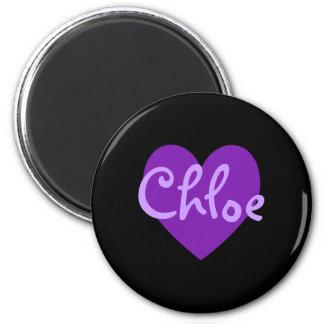 紫色のChloe マグネット