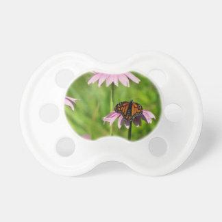 紫色のconeflowerのマダラチョウ おしゃぶり