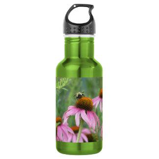 紫色のConeflowerの蜂 ウォーターボトル