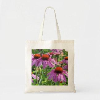 紫色のConeflower トートバッグ