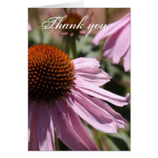 紫色のConeflower ノートカード