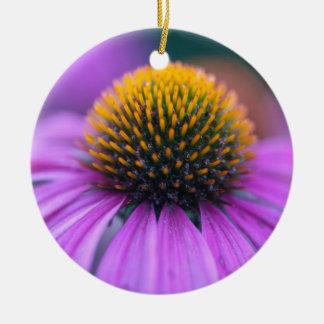紫色のconeflower (Echinaceaのpurpurea) セラミックオーナメント