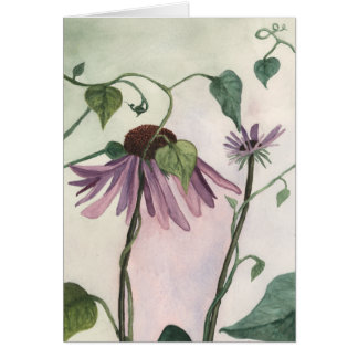 紫色のConeflower Notecard カード