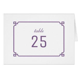 紫色のDecoのシックなテーブル数 グリーティングカード