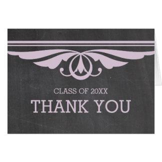 紫色のDecoの黒板の卒業のサンキューカード カード