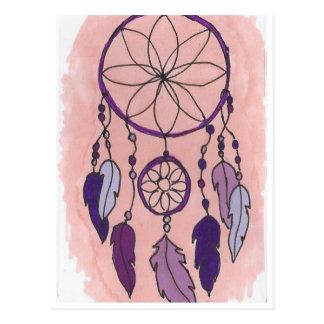 紫色のDreamcatcher ポストカード