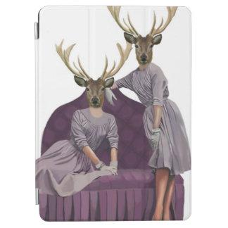 紫色のDresses.jpgのシカの双生児 iPad Air カバー