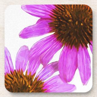 紫色のEchinaceaの花の抽象芸術 コースター