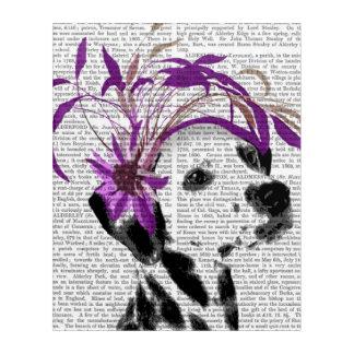 紫色のFascinatorのダルマチア人 アクリルウォールアート