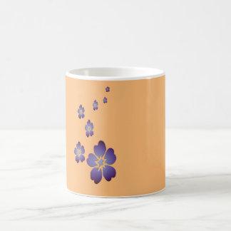 紫色のFlowes コーヒーマグカップ