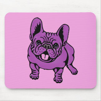 紫色のFrenchie マウスパッド