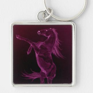 紫色のFriesian養育Keychain キーホルダー